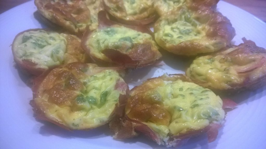 Cancer nutrition - crust-less egg quiches