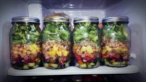 rainbow salad jar