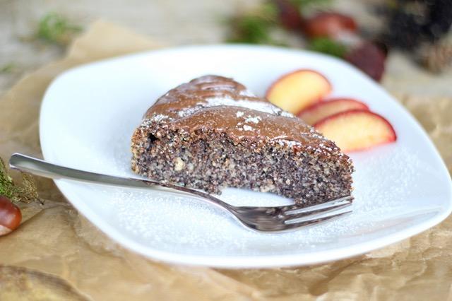 Scrumptiously Low Sugar Spiced Apple Chocolate Cake